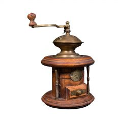 Vintage Manual Coffee Grinder, Continental, Fruitwood, Rotary Mill, Circa 1940