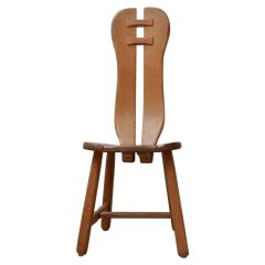 Set of Four Oak Belgium Dining Chairs by De Puydt Chairs '4'