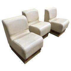 Mid-Century Modern Italian Living Room Set Consisting in 3 Sectional Armchairs