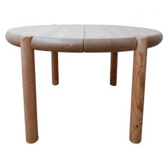 Mid-Century Circular Pine Dining Table by Rainer Daumiller