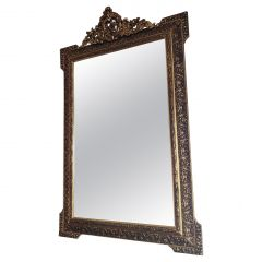 Italian Style Giltwood and Composition Framed Wall Mirror, 1950s