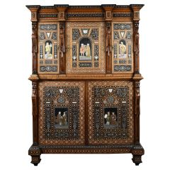 19th Century Northern Italian Profusely Inlaid Cabinet