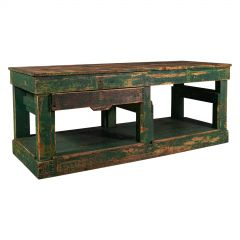 Large Antique Factory Work Table, English, Pine, Industrial, Mill, Victorian