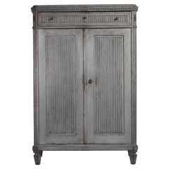Swedish Gustavian Painted Chest of Drawers Commode Tallboy 1830 Chiffonier White