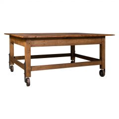 Antique Boulangerie Table, French, Pine, Shop, Bakery, Display, Victorian, 1880