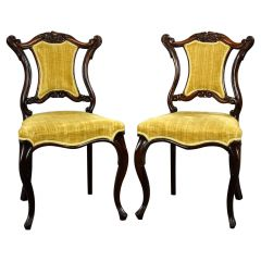 Pair Victorian Rosewood Chairs