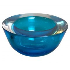 Large Murano Glass Sommerso Bowl Element Flavio Poli, Attributed, Italy, 1970s
