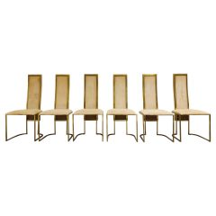 Vintage Brass Dining Chairs by Belgo Chrome, 1970s