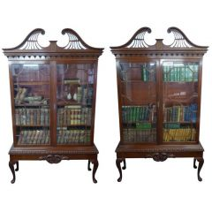 Pair of Chippendale Revival Bookcases