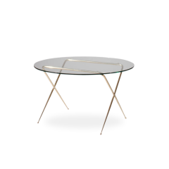 Brass & Glass Low Table by Angelo Lelii