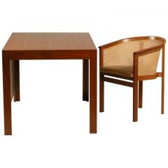 1980s Rud Thygesen and Johnny Sørensen Desk and Chair in Mahogany and Leather