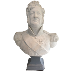 IMPORTANT LOUIS-PHILIPPE PLASTER BUST. FRENCH