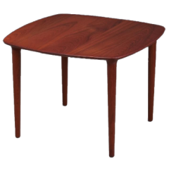 Coffee / side table in solid teak with beautiful details, Danish design, 1960s