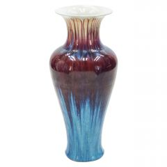 Very Large Colorful French Ceramic Vase, 1960s