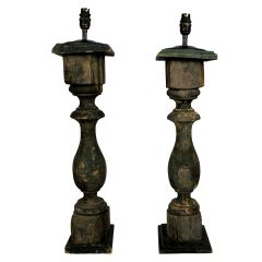 18th Century French Painted Balustrades as Lamps