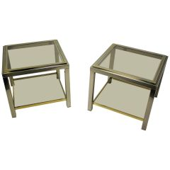 Pair of Side Tables Byjean Charles, 1970s