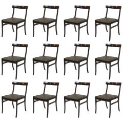Ole Wanscher Set of Twelve Refinished Mahogany Dining Chairs, Inc. Reupholstery