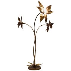 Willy Daro Flower Floor Lamp, 1970s