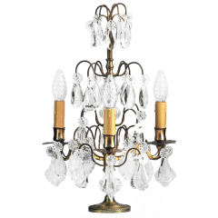 French Girandole Table Lamp 19Th Century Candelabra