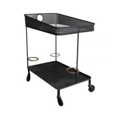 Modernist Perforated Metal Venise Drinks Trolley