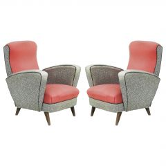 Pair of Midcentury Lounge Chairs Original Condition French Armchairs