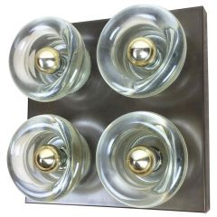 Original Copper Glass Wall Sconce Modernist Cosack Lights, Germany, 1970s