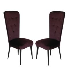 Italian Modern High-Back Chairs