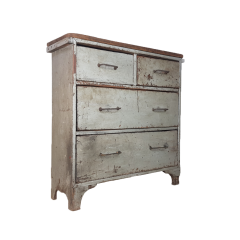 Vintage Industrial French Chest Of Drawers