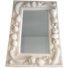 UNIQUE DECORATIVE PLASTER MIRROR WITH FRUITS DECOR