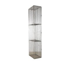 Wire Mesh Lockers With 3 Compartments