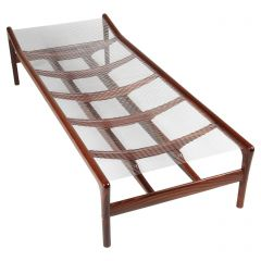 Niels Roth Andersen Rosewood and Leather Daybed