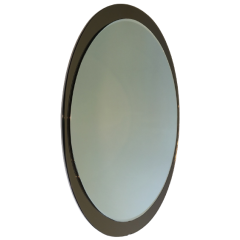 ATT TO FONTANA ARTE. LARGE OVAL MIRROR. CIRCA 1970