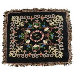 Embroidered Cover Bohemian Hand stitched Throw Wall Hanging Belle Époque