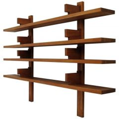 B 17A  Pierre Chapo Suspended Wall-Shelves