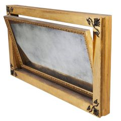 48 inch English Regency Gold Overmantel Mirror