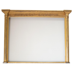 A Grand Regency Gilt Overmantle Mirror