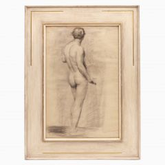 Male Nude Study by Alfred Wolmark 1877-1961