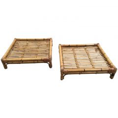 1970s Pair Of Italian Bamboo Coffee Tables