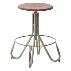 1950s Italian Industrial Iron Stool