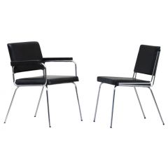 French Industrial Boardroom Chairs C1960, Set Of 10