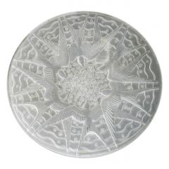 Opalescent Art Glass Center Bowl Swallows P d'Avesn French Designer with Lalique