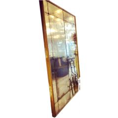 Pair of Large French, 19th Century Antique, Gold Gilt Framed Panelled Mirrors
