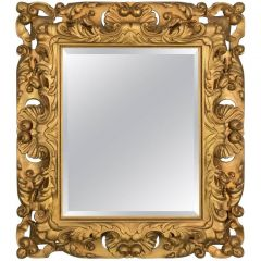 20th Century Giltwood Wall Mirror in Classical Taste
