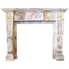 Louis XV Marble Fireplace Mantel