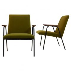 Pierre Guariche Armchairs by Meurop, 10 Pcs