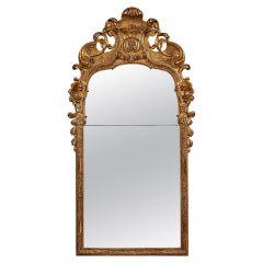 Early 18th Century German Giltwood Pier Mirror, Louis XIV Baroque Period