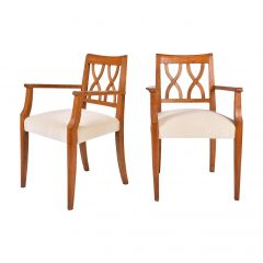 Pair of Art Deco Oak Bridge Armchairs by Baptistin Spade