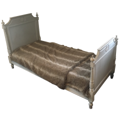 LOUIS THE 16TH STYLE PAINTED BED. FRENCH.