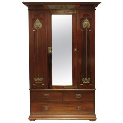 Shapland & Petter Arts & Crafts Mahogany Wardrobe, circa 1920