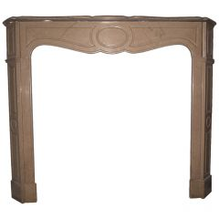19th Century Pompadour Fireplace Mantel